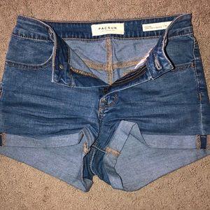 PacSun High Rose Shortie Shorts